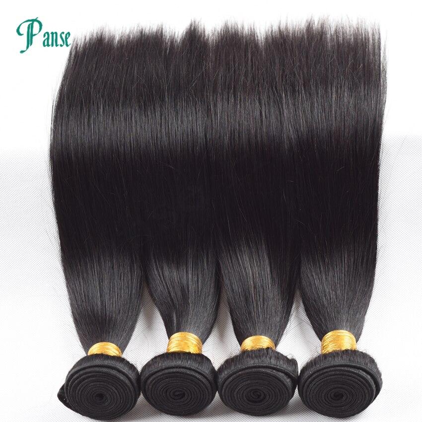 Panse Hair 3 Bundles Per Lot Non Remy Peruvian Hair Straight Natural Black Hair Weaving Mixed 8-30 Inches