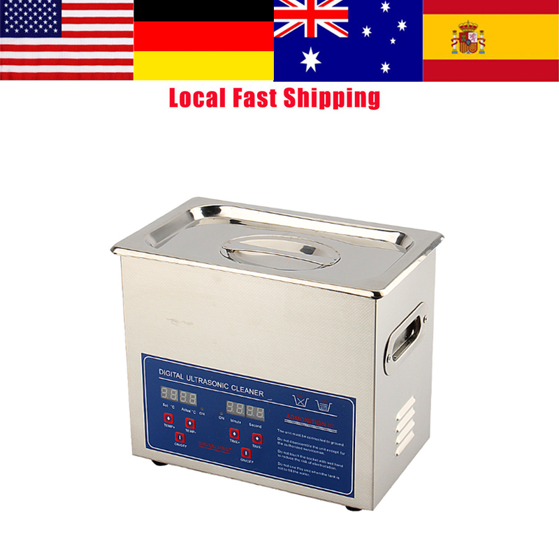 3L Digital Ultrasonic Cleaner Bath Tank For Jewelry Coins Tool Part Stainless Steel Ultra Sonic Cleaning Machine HOT SALE citall 6 columns billet deep cut frame grill for harley electra glide road king road street glide flht flhr fltr flhx 2009 2013