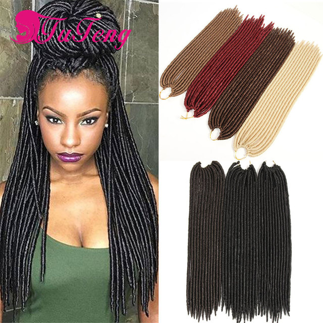 Faux Locs Crochet Hair 18 Inch Dreadlock Extensions Black Curly Twist Best Quality