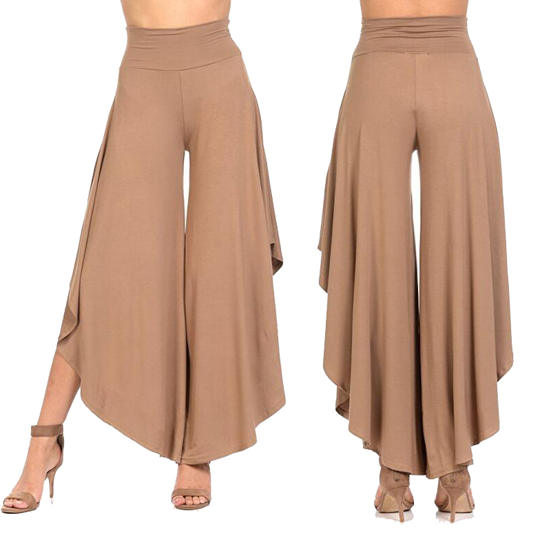 8589126c5336d Winter s Loose Pants Plus Size for Women Solid Ruffle Casual Harem dresses pant  Wide Leg Palazzo Culottes Stretch Female Clothes-in Pants   Capris from ...
