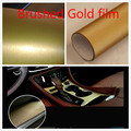 100cm*152 cm Car Styling Carbon Fiber Adhesive gold Vinyl Waterproof Wire drawing Sticker Decoration Film Interior Boday Decal