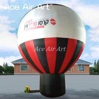 Привлекательный круглый стоя гигантские надувные воздушный шар на крышу для рекламы Сделано в Китае