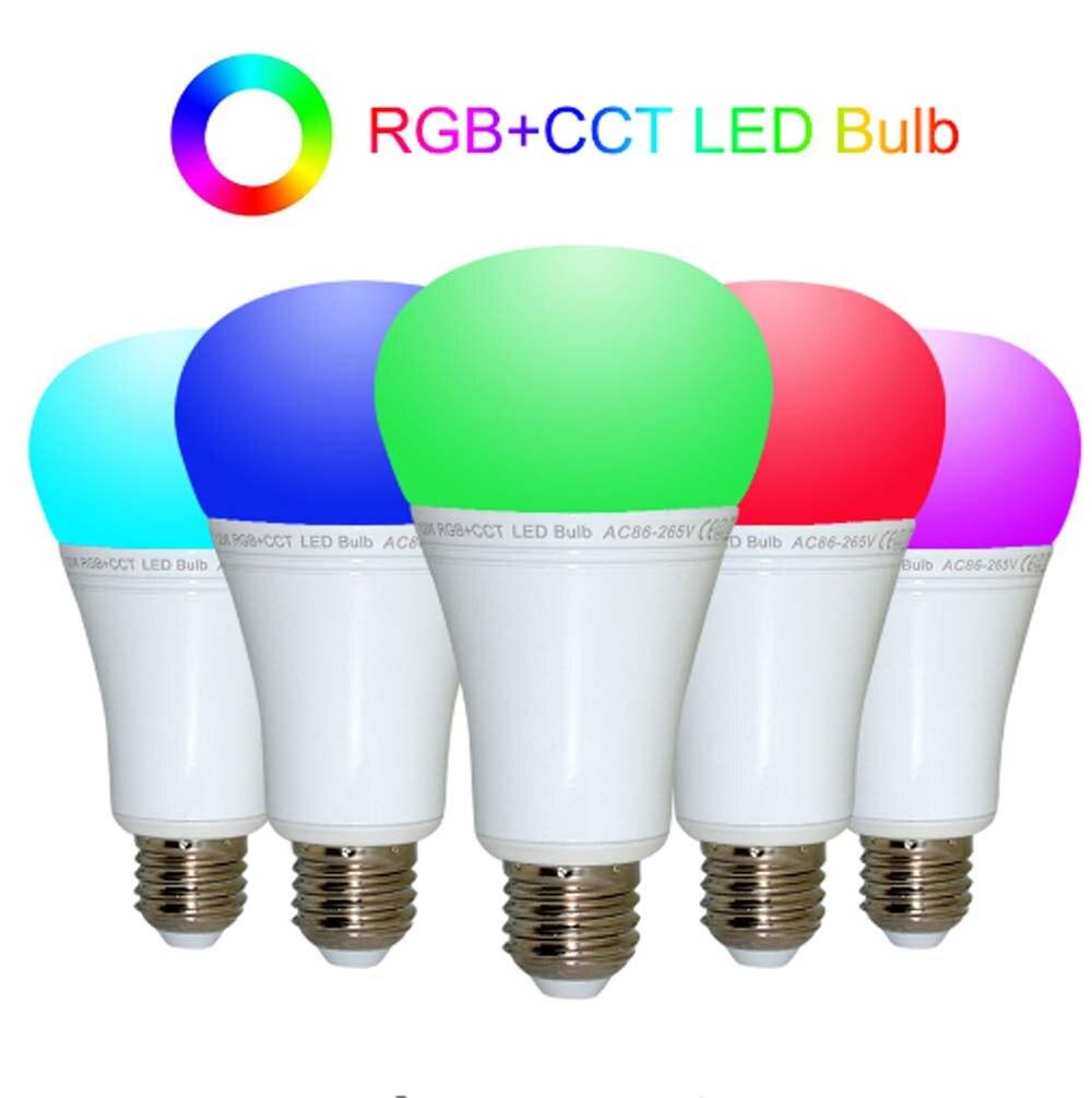 Mi lumière 12 W E27 RGB + CCT Led ampoule Dimmable AC85-265V lampe à Led B4 (3 V) panneau à distance MiLight Led projecteur lumière livraison gratuite - 6