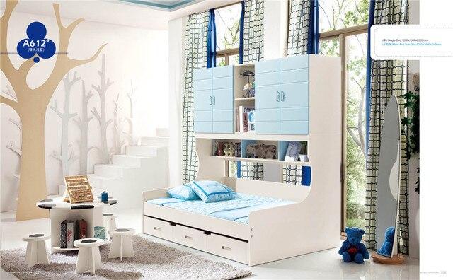 Roze blauw kleur slaapkamer set voor kleine jongen a in