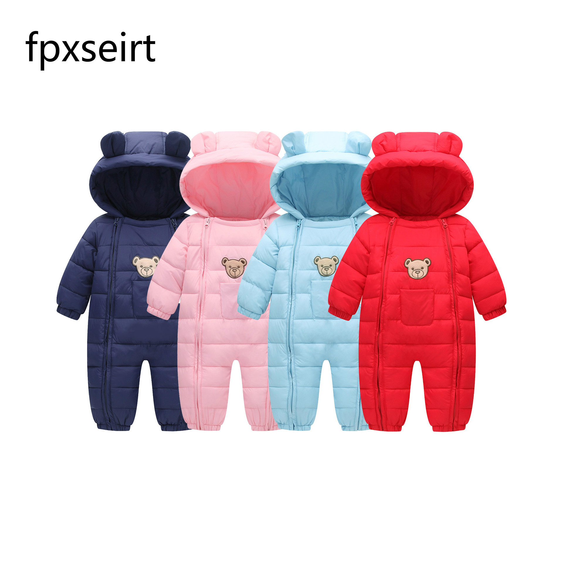 Autumn & Winter Newborn Baby Cotton Clothes Fleece Animal Style Clothing Romper Baby Clothes Cotton-padded Overalls new winter 2015 women cotton padded clothes draw string of cultivate one s morality show thin fashionable
