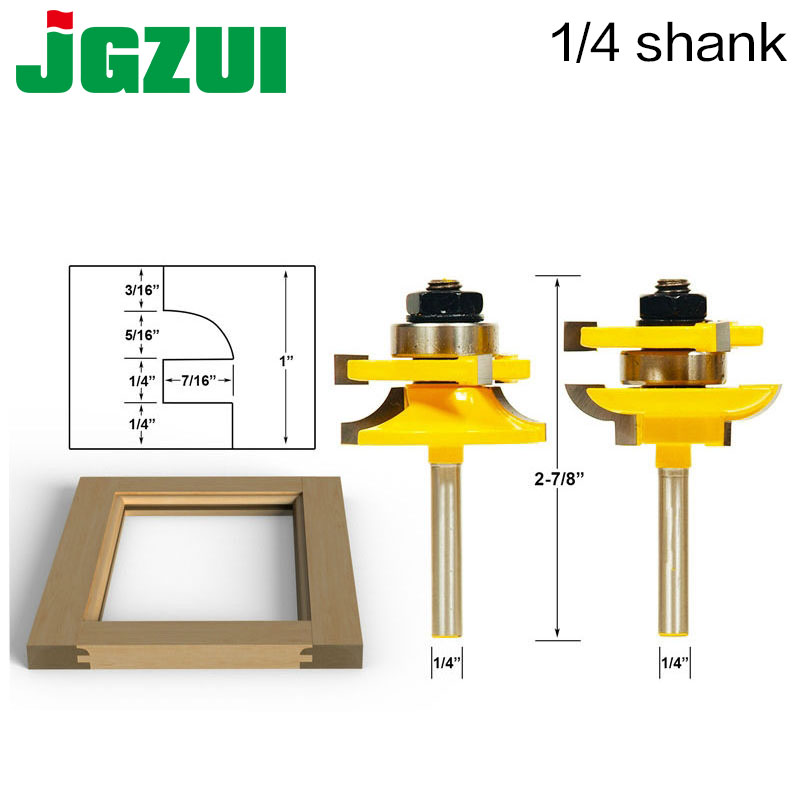 Rail And Stile Router Bits - 2 Bit Round Over - 1/4