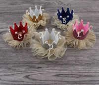 5 色王女クラウンプリンセスティアラフラットバック、新生児クラウンきらめきの誕生日の王女のためのヘッドバンド