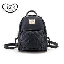 Небольшой рюкзак моды рифмы шаблон Кожаный Рюкзак Женская Роскошная брендовая дорожная сумка металлические части и букв сумки для женщин 20