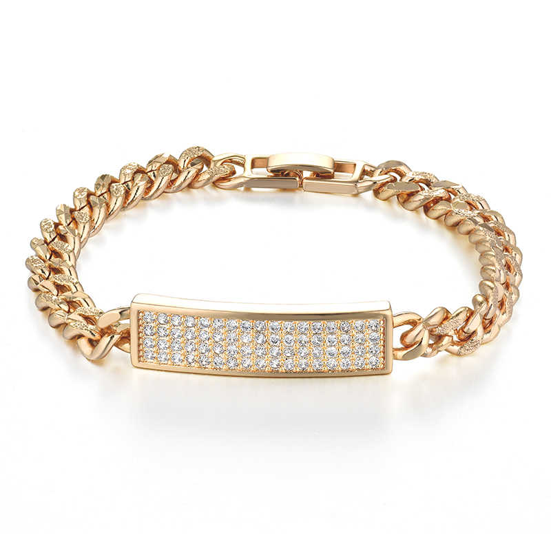 Ladies Id Bracelets Female Gold Color Cuban Hand Chain Link Bracelet for Women Jewelry Women's Bracelets & Bangles Bileklik