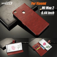 For Xiaomi Mi Max 2 Max2 6 44 Inch High Quality Wallet PU Leather Flip Stand