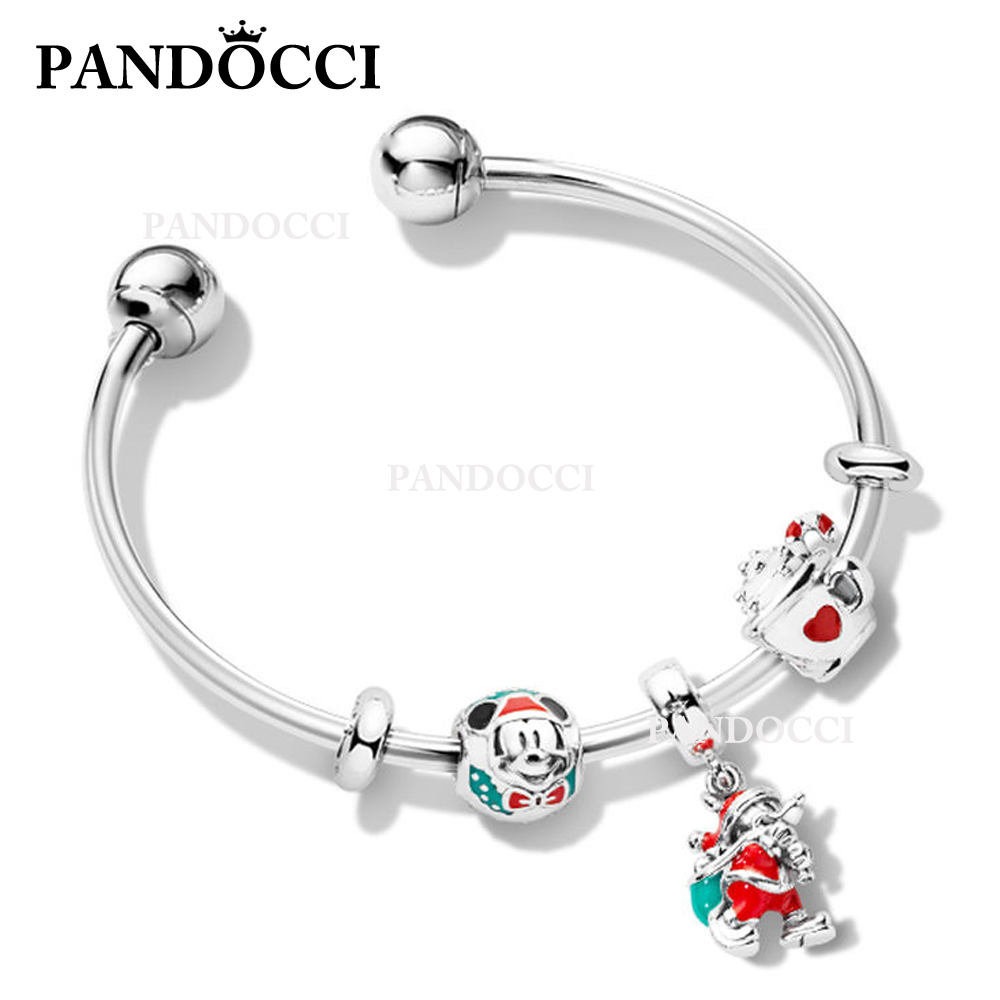 PANDOCCI 100% 925 Sterling Silver ZT0196 Christmas Bracelet Set Original Jewelry Manufacturer Wholesale Suitable Women GiftPANDOCCI 100% 925 Sterling Silver ZT0196 Christmas Bracelet Set Original Jewelry Manufacturer Wholesale Suitable Women Gift