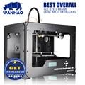 wanhao D4S 3D Printer machine Dual Extruder Prusa Two-Color Printing High Resolution Impressora ABS PLA material 3d printer