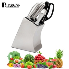 RUNBAZEF Kitchen Holder  Knife   Rack Metal  Shelf  Stainless Steel Tool  Attachment Stand for  Knives Magnetic