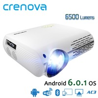 CRENOVA High Quality 6500 Lumens Video Projector For Full HD 1080p Android 6.1 OS Android Projector With WIFI Bluetooth Beamer