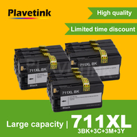Plavetink 12 Pcs Full Refilled 711 Ink Cartridge for HP711 For HP 711 XL Designjet T120 T520 24 in ePrinter T 120 520 Printer