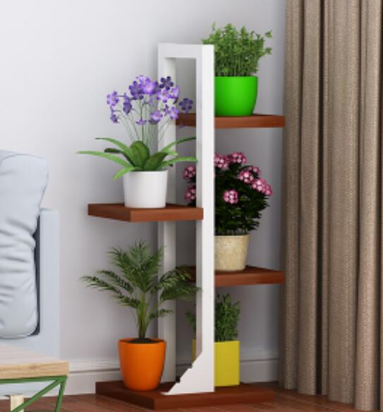 US $139.0 |Indoor Multilayer Corner Shelf Modern Green Plant Shelf Living  Room Flower Rack Balcony Pot Culture Shelf-in Bookcases from Furniture on  ...