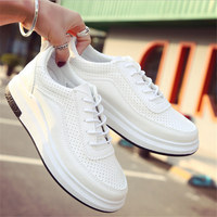 Woman Spring Summer Breathable Flat Women White Shoes Casual Shoes Platform Apartment Shoes Casual Wild Zapatillas