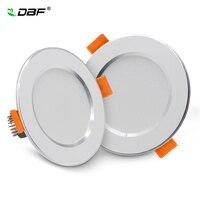 [DBF]-lámpara empotrada LED ultrafina 2 en 1 SMD 2835 3W 5W 7W 9W 12W AC220V, foco de techo para dormitorio, cocina, decoración del hogar
