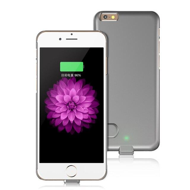 1XLOT Внешний Резервный Аккумулятор Чехол Для iPhone6 Аккумулятор Питания чехол для iPhone 6 Plus Ultra thin Power Чехол Для 6 S