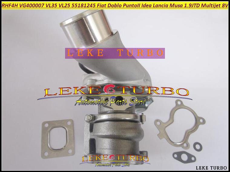 Free Ship Turbo RHF4H VL25 VL35 VG400007 55181245 71783881 Turbocharger For FIAT Doblo Punto 2 Idea Lancia Musa Multijet 8V 1.9L