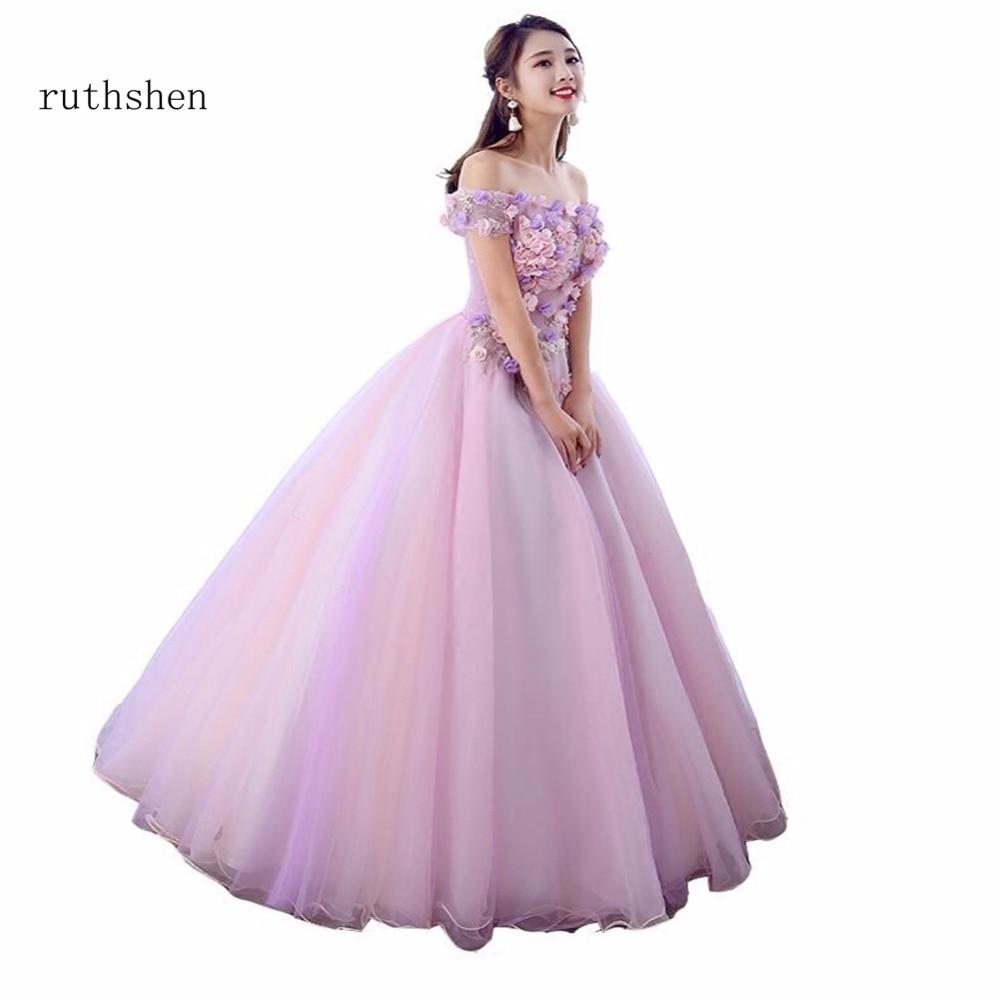 Ruthshen Vestidos De Dulces 16 Mädchen Maskerade Ballkleider Liebsten Boot-ausschnitt Vestidos Debütant De 15 Quinceanera Kleid 2018 Weddings & Events