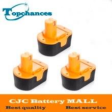 3PCS High Quality 14.4V 2000mAh NI-CD Power Tool Battery For RYOBI 130281002 RY62 RY6200 RY6201 RY6202 STPP-1441 14.4 Volt