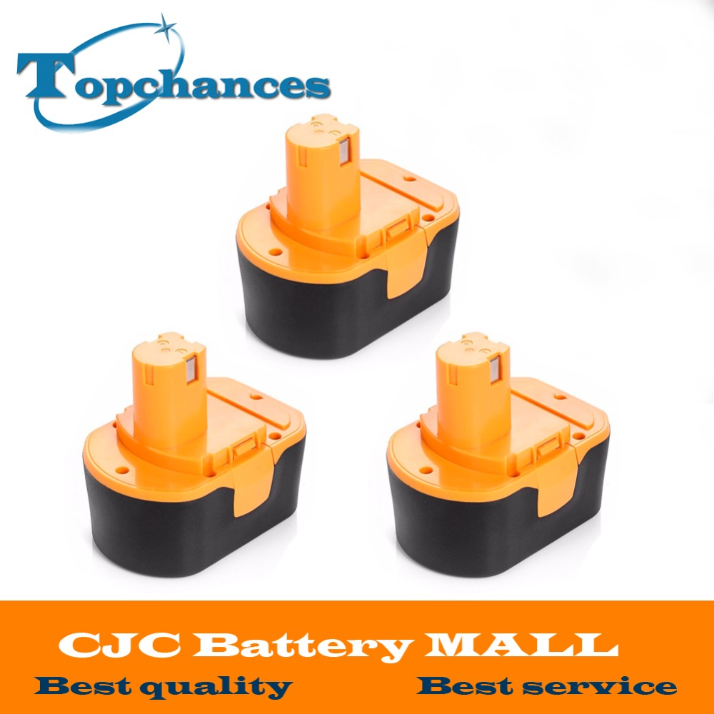 3PCS High Quality <font><b>14.4V</b></font> 2000mAh NI-CD Power Tool <font><b>Battery</b></font> For RYOBI 130281002 RY62 RY6200 RY6201 RY6202 STPP-1441 14.4 Volt image