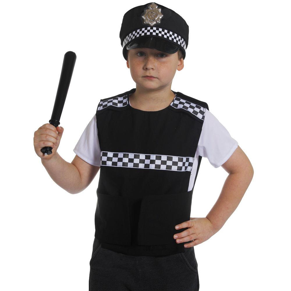 CHILD POLICE VEST HAT UNIFORM POLICEMEN HALLOWEEN COSTUME FANCY DRESS CARNIVAL PC COP SWAT SERGEANT PANDA FOR BOYS KID COSPLAY