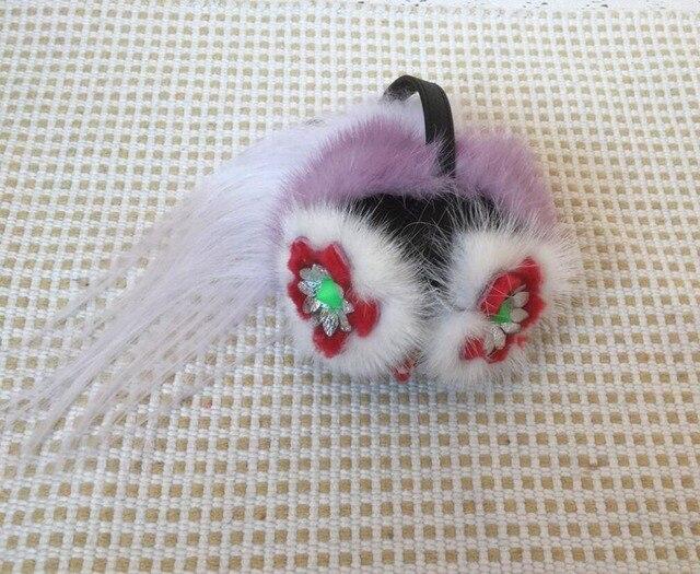 Fuffly Karl Genuine mink Fur Pompom Bola Monstro Saco Erros Charme mulheres Pom Pom do Anel Chave da corrente Chave Chaveiro De Pelúcia Animal de pelúcia fazer