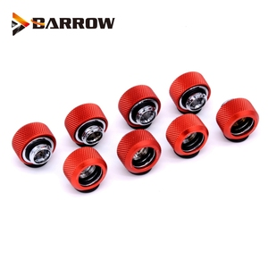 Image 4 - 8 Stks/partij OD12/14/16 Mm Harde Buis Montage Water Koeling Metalen Connector G1/4 OD12mm 14 Mm OD16mm Hand Compressie Messing Fitting