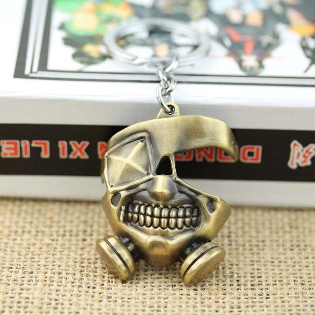 Tokyo Ghoul Keychain Key Chain KeyRing Ring Necklace Pendant Ken Kaneki Mask