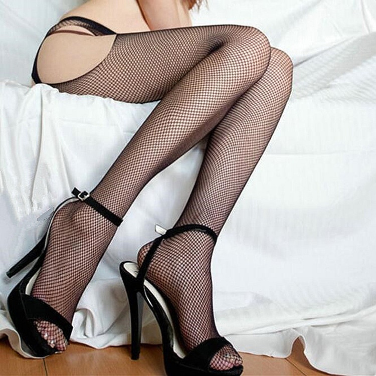 HOT New Women Sexy Open Crotch Pantyhose BodyStocking fishnet sheer Elastic tights High Quality