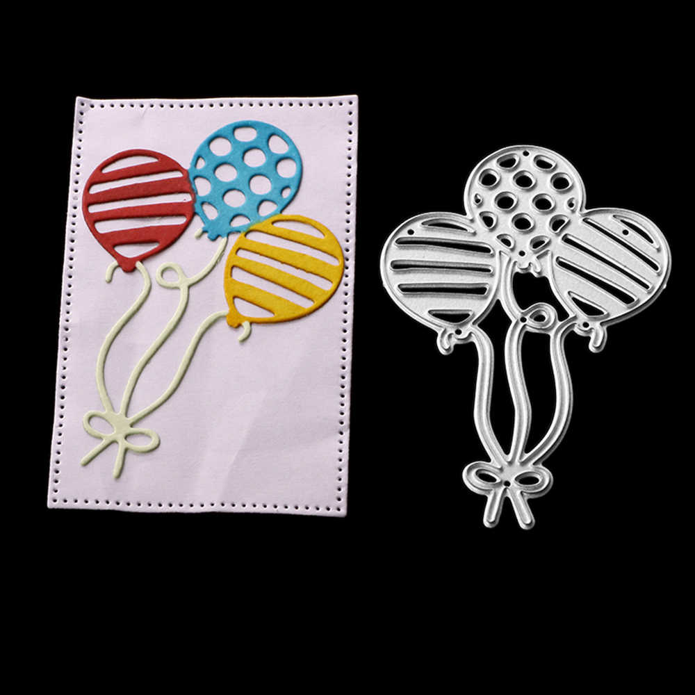 Gowing Craft Metal Steel Cutting Dies 2019 New Three balloons Stencil For DIY Scrapbooking Paper/photo Cards Embossing Dies
