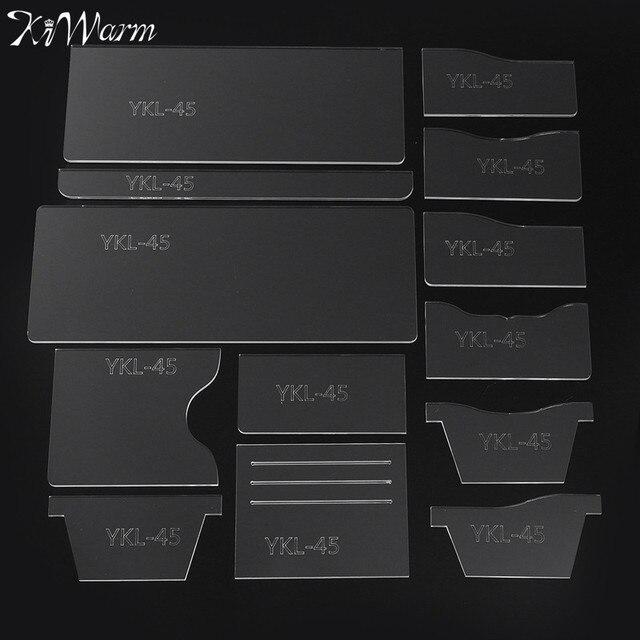 13 pcs ensemble acrylique portefeuille pochoir ensemble bricolage femmes hommes en cuir. Black Bedroom Furniture Sets. Home Design Ideas