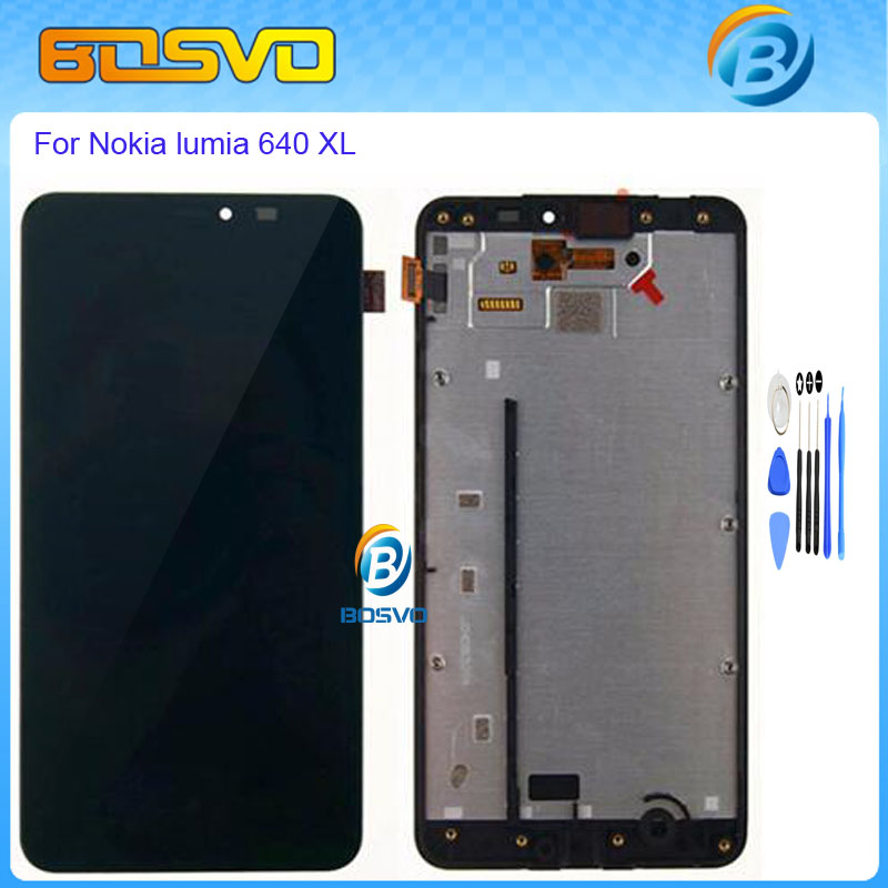 ФОТО Replacement lcd display with touch screen digitizer frame for Microsoft Nokia Lumia 640 XL 640XL lcd assembly Black color+tools
