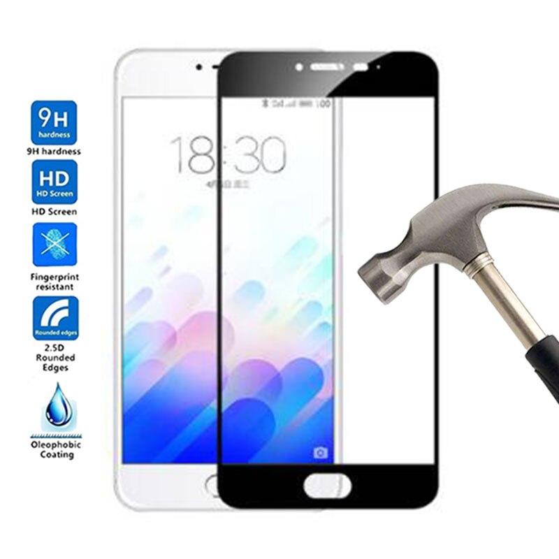 Full cover Screen Protector Tempered Glass Anti-scrath Glass For Meizu M3 M3s Phone Film For Meizu M3s