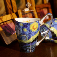 Heißer Verkauf!!! Van Gogh Kunst Malerei Kaffee Becher Die Starry Nacht  Sonnenblumen  Der Sämann  iris Saint Remy Tee tassen wasser flasche-in Tassen aus Heim und Garten bei