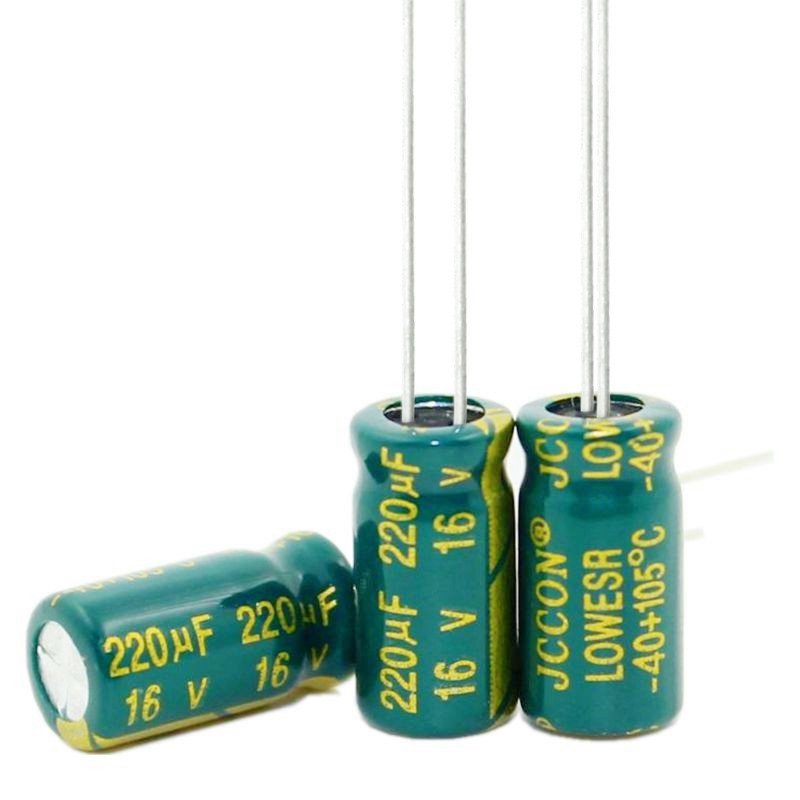 2.2UF 3.3UF 47UF 100UF 220UF 470UF 680UF 400V 63V 50V 35V 25V 16V 10V 6*12MM Aluminum electrolytic capacitor image