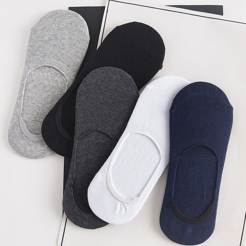 5 Pairs/Lot Ankle Socks Men New Fashion Cotton Men Invisible Sock Breathable Anti-skid Solid Summer Socks Boat Socks 10Pcs=5Pair