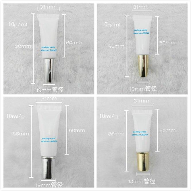 Tubo suave de 10 ml para lavado suave/mantequilla/tubo de crema de manos/crema de ojos/base/crema BB /Embalaje cosmético tubo vacío esencia