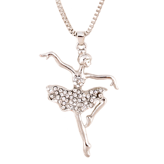 Crystal statement ballet dance doll girl pendant necklace dress crystal statement ballet dance doll girl pendant necklace dress handmade french doll pendant alloy girl women mozeypictures Image collections