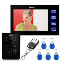 Free Shipping! Touch Key 7 LCD Video Door Phone Intercom System Wth IR Camera & Code Keypad