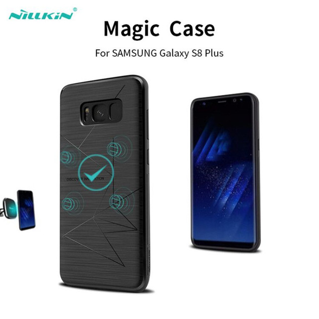 brand new 40c95 fad1d US $9.86 21% OFF|Nillkin Wireless Charging Silicone Case for Samsung Galaxy  S8 S8 Plus Case Cover Magnet Car GPS Stand Phone Cases S8 Cover Capa-in ...