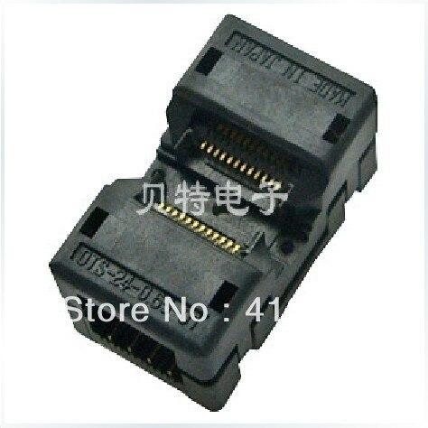OTS-24-0.65-01 block adapter burned block SSOP24 conversion testing, programming, ucos dedicated programming block zy344a burning psop44 adapter adapter tests
