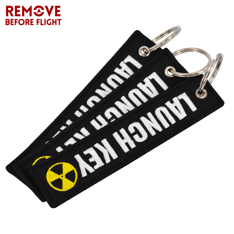 New Fashion Nuclear Launch Key Chain Bijoux Keychain for Motorcycles and Cars Gifts Tag Embroidery Key Fobs OEM Keychain Bijoux (9)