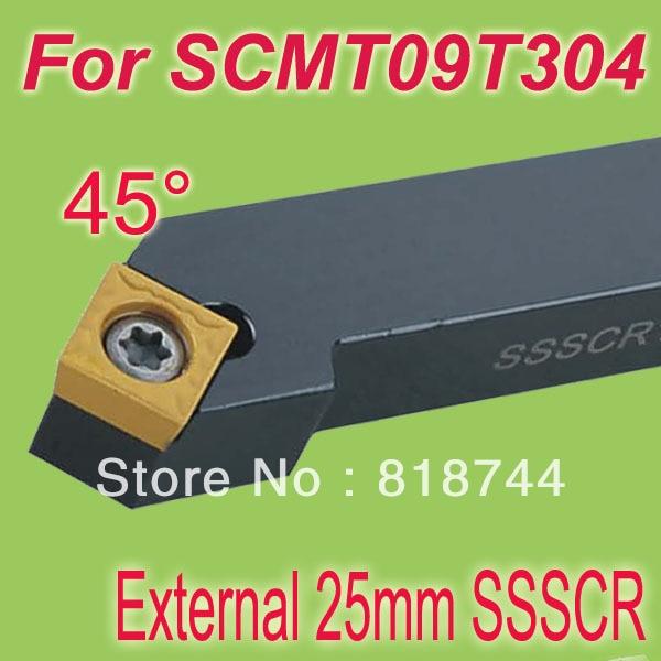 ФОТО Free Shiping  SSSCR 25*25*150mm SHK 1 '' 45  Degree External Screw Down Locked  Lathe Tool Holder For SCMT09T304 work on lathe