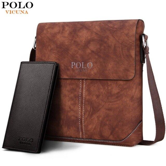 VICUNA POLO Vintage Panelled Men Messenger Bag Personality Contrast Color Crossbody  Shoulder Bag For Man Business Man Handbag 3c831cd70963c