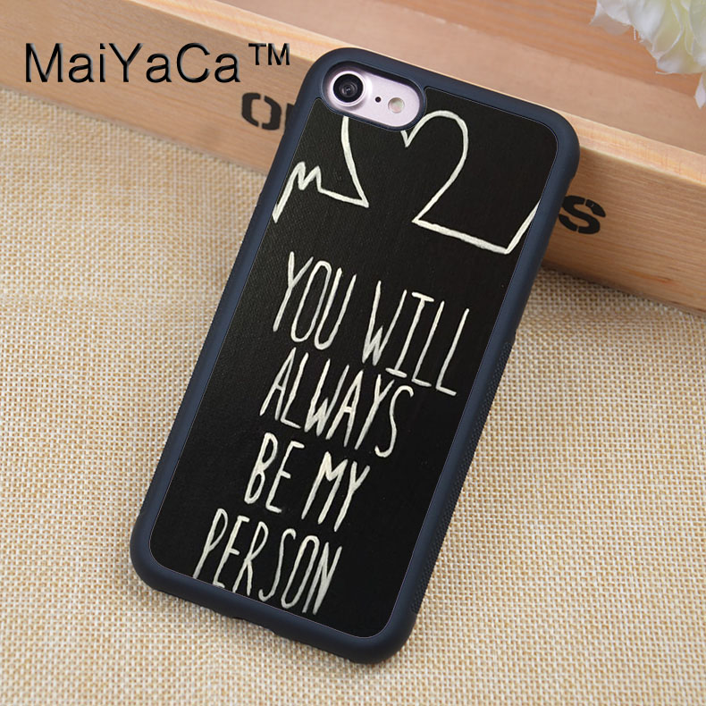 MaiYaCa Greys Anatomy quotes Printed Soft Rubber Mobile Phone Case ...