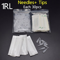 1R *30pcs Profession Sterilized Permanent Makeup Needles With Suitable Tips