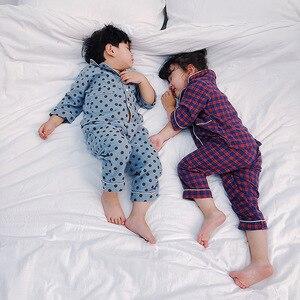 Image 3 - Autumn Winter boys girls fashion cartoon Pajama Sets pure cotton long sleeve shirt +pants 2pcs suits kids children clothes sets